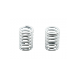 PA0049W BMT 984 White Hard Shock Spring Rear (2pcs)