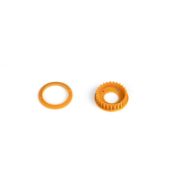 PA7238 BMT 701 Pulley 27T with Flange - Orange